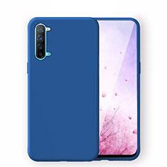Custodia Silicone Ultra Sottile Morbida 360 Gradi Cover S02 per Oppo K7 5G Blu
