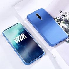 Custodia Silicone Ultra Sottile Morbida 360 Gradi Cover S03 per OnePlus 7T Pro Blu