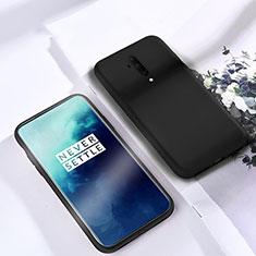 Custodia Silicone Ultra Sottile Morbida 360 Gradi Cover S03 per OnePlus 7T Pro Nero