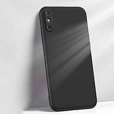Custodia Silicone Ultra Sottile Morbida 360 Gradi Cover S04 per Huawei Enjoy 10e Nero