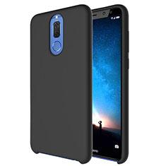Custodia Silicone Ultra Sottile Morbida 360 Gradi Cover S04 per Huawei Mate 10 Lite Nero