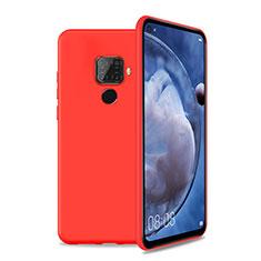 Custodia Silicone Ultra Sottile Morbida 360 Gradi Cover S04 per Huawei Nova 5z Rosso