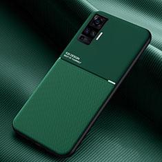 Custodia Silicone Ultra Sottile Morbida 360 Gradi Cover S04 per Vivo X50 Pro 5G Verde