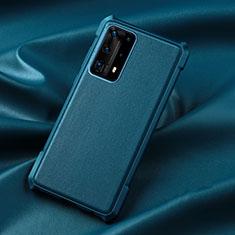 Custodia Silicone Ultra Sottile Morbida 360 Gradi Cover S06 per Huawei P40 Pro+ Plus Blu