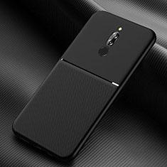 Custodia Silicone Ultra Sottile Morbida 360 Gradi Cover S06 per Xiaomi Redmi 8 Nero