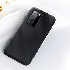Custodia Silicone Ultra Sottile Morbida 360 Gradi Cover S07 per Huawei P40 Pro Nero