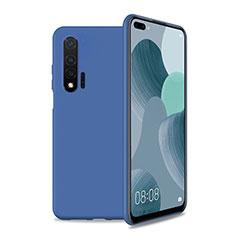 Custodia Silicone Ultra Sottile Morbida 360 Gradi Cover T01 per Huawei Nova 6 5G Blu