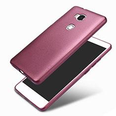 Custodia Silicone Ultra Sottile Morbida 360 Gradi per Huawei Honor 5X Viola
