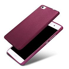 Custodia Silicone Ultra Sottile Morbida 360 Gradi per Huawei P8 Lite Viola
