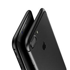 Custodia Silicone Ultra Sottile Morbida A01 per Apple iPhone 7 Plus Nero