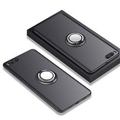 Custodia Silicone Ultra Sottile Morbida con Anello Supporto A02 per Xiaomi Mi Note 3 Nero