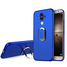 Custodia Silicone Ultra Sottile Morbida con Anello Supporto A04 per Huawei Mate 9 Blu