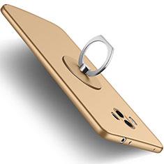 Custodia Silicone Ultra Sottile Morbida con Anello Supporto per Huawei Mate 10 Oro