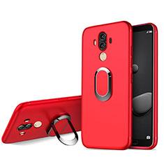 Custodia Silicone Ultra Sottile Morbida con Anello Supporto per Huawei Mate 10 Pro Rosso