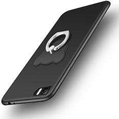 Custodia Silicone Ultra Sottile Morbida con Anello Supporto per Xiaomi Mi 3 Nero