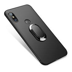 Custodia Silicone Ultra Sottile Morbida con Anello Supporto per Xiaomi Redmi Note 5 Pro Nero