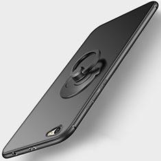 Custodia Silicone Ultra Sottile Morbida con Anello Supporto per Xiaomi Redmi Note 5A Standard Edition Nero