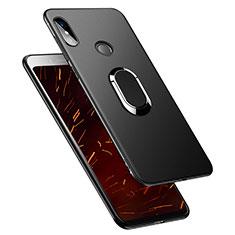 Custodia Silicone Ultra Sottile Morbida con Anello Supporto per Xiaomi Redmi S2 Nero