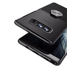 Custodia Silicone Ultra Sottile Morbida con Magnetico Anello Supporto per Samsung Galaxy Note 8 Duos N950F Nero