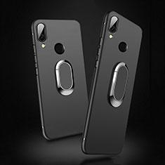 Custodia Silicone Ultra Sottile Morbida con Magnetico Anello Supporto per Xiaomi Redmi 7 Nero