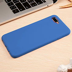 Custodia Silicone Ultra Sottile Morbida Cover A01 per Oppo R17 Neo Blu