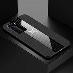 Custodia Silicone Ultra Sottile Morbida Cover C01 per Huawei P40 Pro Nero