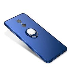 Custodia Silicone Ultra Sottile Morbida Cover con Anello Supporto per Xiaomi Redmi 5 Blu