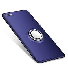 Custodia Silicone Ultra Sottile Morbida Cover con Anello Supporto per Xiaomi Redmi Note 5A Standard Edition Blu