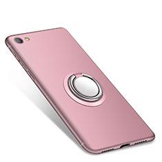 Custodia Silicone Ultra Sottile Morbida Cover con Anello Supporto per Xiaomi Redmi Note 5A Standard Edition Rosa