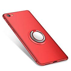 Custodia Silicone Ultra Sottile Morbida Cover con Anello Supporto per Xiaomi Redmi Note 5A Standard Edition Rosso