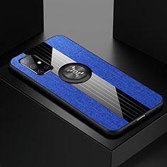 Custodia Silicone Ultra Sottile Morbida Cover con Magnetico Anello Supporto A01 per Samsung Galaxy A51 5G Blu