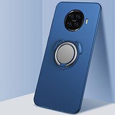 Custodia Silicone Ultra Sottile Morbida Cover con Magnetico Anello Supporto A02 per Oppo Ace2 Blu