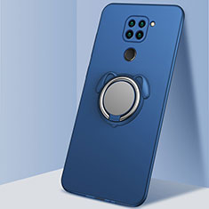 Custodia Silicone Ultra Sottile Morbida Cover con Magnetico Anello Supporto G03 per Xiaomi Redmi 10X 4G Blu
