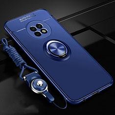 Custodia Silicone Ultra Sottile Morbida Cover con Magnetico Anello Supporto per Huawei Enjoy 20 Plus 5G Blu