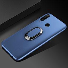 Custodia Silicone Ultra Sottile Morbida Cover con Magnetico Anello Supporto per Huawei Enjoy 9s Blu
