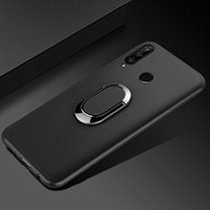 Custodia Silicone Ultra Sottile Morbida Cover con Magnetico Anello Supporto per Huawei Honor 20 Lite Nero