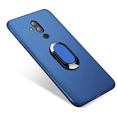 Custodia Silicone Ultra Sottile Morbida Cover con Magnetico Anello Supporto per Huawei Mate 20 Lite Blu