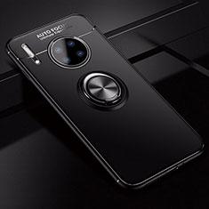Custodia Silicone Ultra Sottile Morbida Cover con Magnetico Anello Supporto per Huawei Mate 30 5G Nero