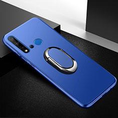 Custodia Silicone Ultra Sottile Morbida Cover con Magnetico Anello Supporto per Huawei Nova 5i Blu