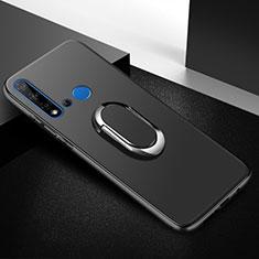 Custodia Silicone Ultra Sottile Morbida Cover con Magnetico Anello Supporto per Huawei P20 Lite (2019) Nero