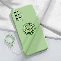 Custodia Silicone Ultra Sottile Morbida Cover con Magnetico Anello Supporto per OnePlus 8T 5G Verde Pastello