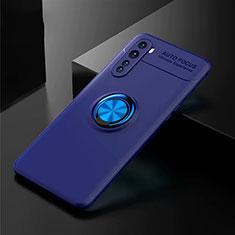 Custodia Silicone Ultra Sottile Morbida Cover con Magnetico Anello Supporto per OnePlus Nord Blu