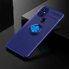 Custodia Silicone Ultra Sottile Morbida Cover con Magnetico Anello Supporto per OnePlus Nord N10 5G Blu