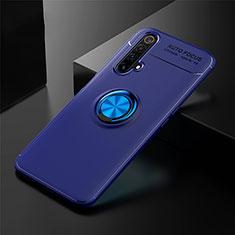 Custodia Silicone Ultra Sottile Morbida Cover con Magnetico Anello Supporto per Realme X3 Blu