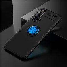 Custodia Silicone Ultra Sottile Morbida Cover con Magnetico Anello Supporto per Realme X3 Blu e Nero