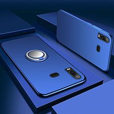 Custodia Silicone Ultra Sottile Morbida Cover con Magnetico Anello Supporto per Samsung Galaxy A6s Blu