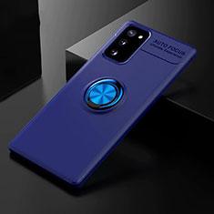 Custodia Silicone Ultra Sottile Morbida Cover con Magnetico Anello Supporto per Samsung Galaxy S20 FE 5G Blu