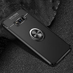 Custodia Silicone Ultra Sottile Morbida Cover con Magnetico Anello Supporto per Samsung Galaxy S8 Nero