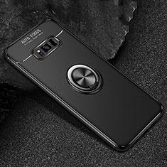 Custodia Silicone Ultra Sottile Morbida Cover con Magnetico Anello Supporto per Samsung Galaxy S8 Plus Nero