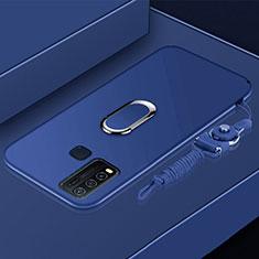 Custodia Silicone Ultra Sottile Morbida Cover con Magnetico Anello Supporto per Vivo Y50 Blu